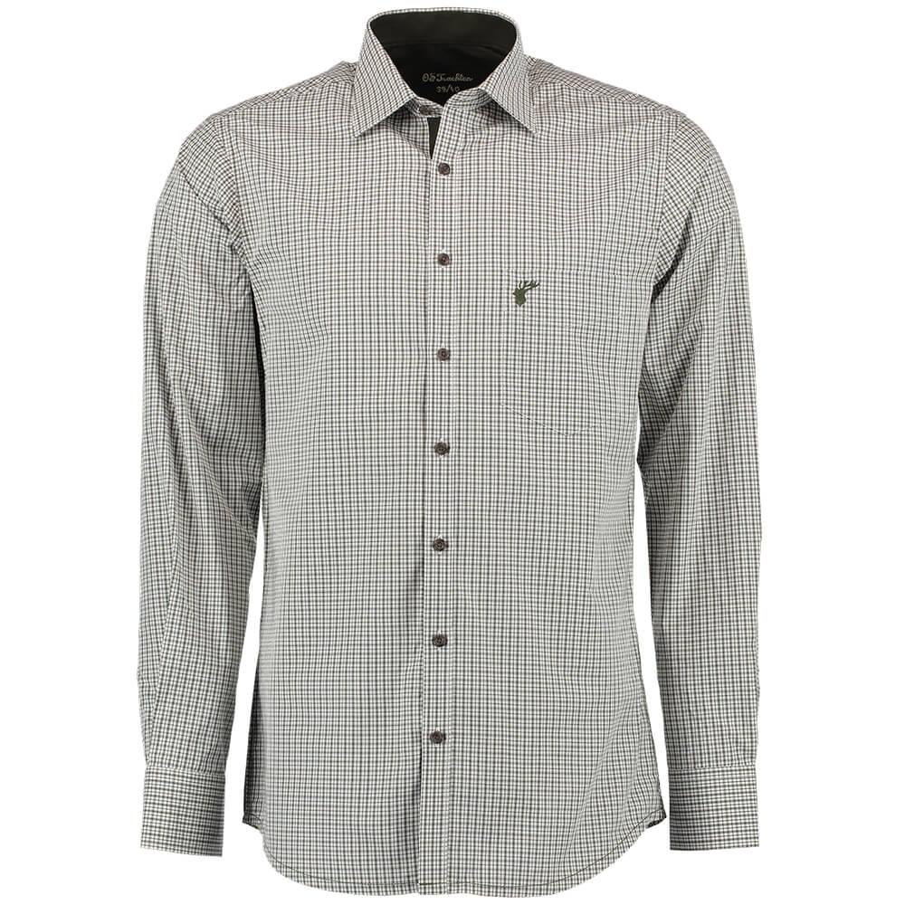 OS Trachten Hemd Slimfit (dunkelgrün) - OS Trachten
