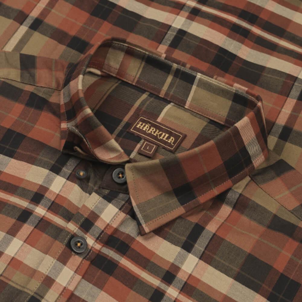 Härkila Newton Hemd (Dark burnt orange check)