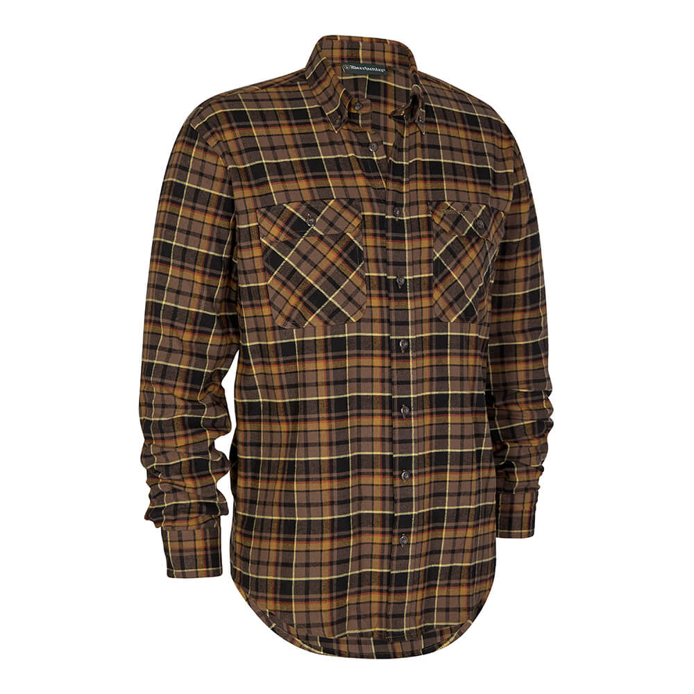 Deerhunter Flanellhemd Marvin (Brown Check) - Jagdhemden