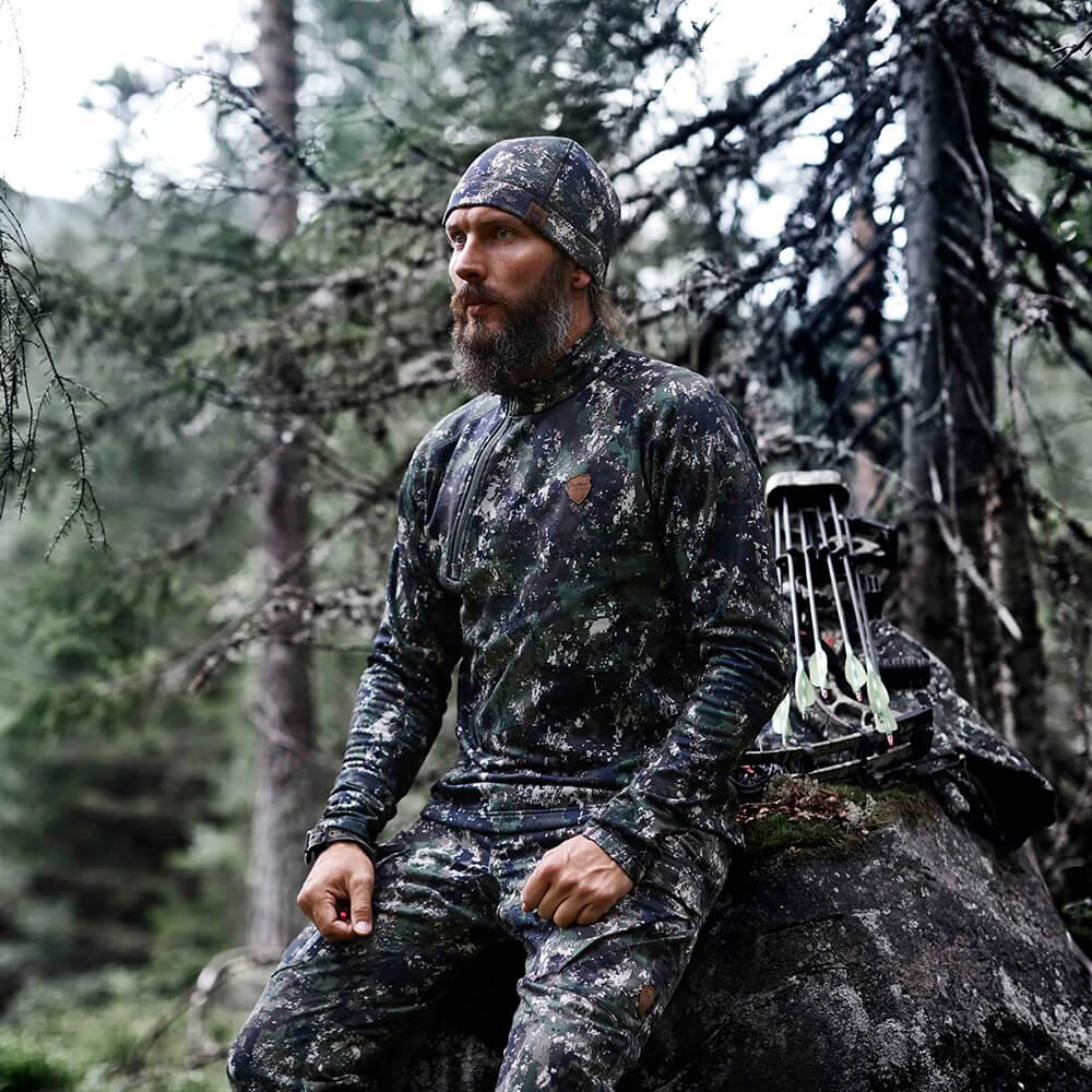 Northern Hunting Svart Fleece Shirt
