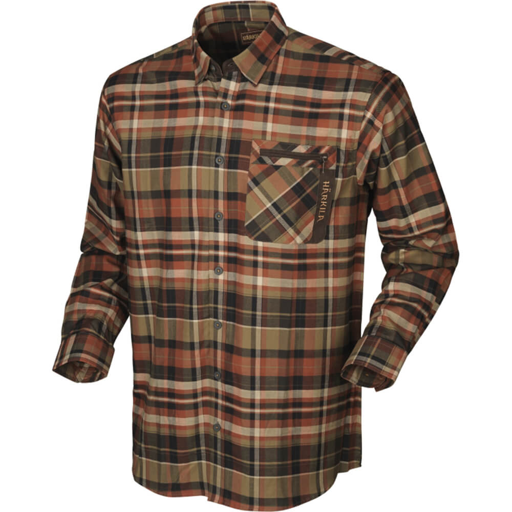 Härkila Newton Hemd (Dark burnt orange check) - Jagdhemden