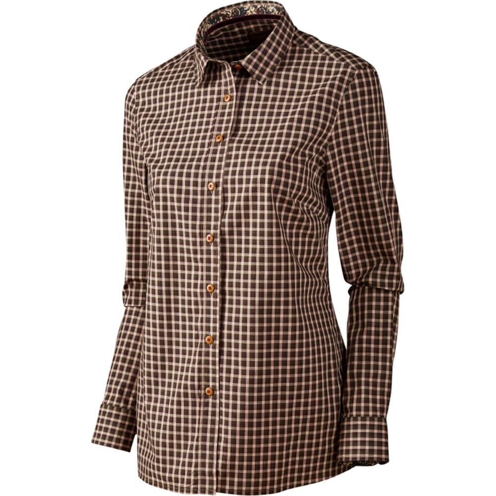 Härkila Selja Damen Hemd (bright port check) - Blusen & Shirts