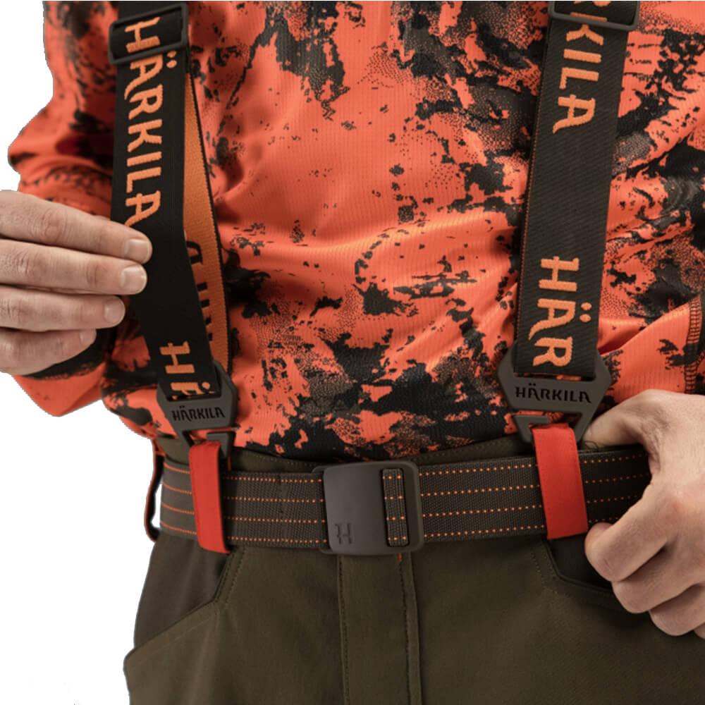 Härkila Hosenträger Wildboar Pro Tech (Brown/Orange blaze)