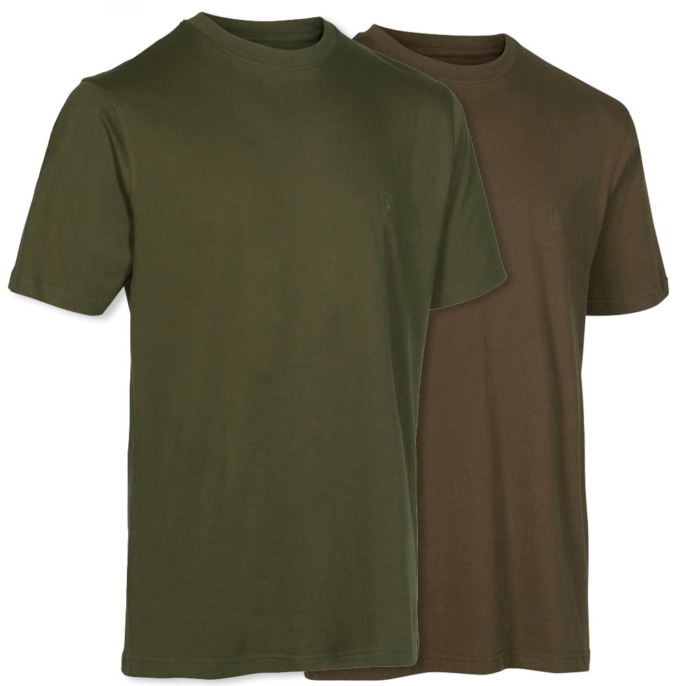 Deerhunter T-Shirt (2er Set) Grün/Braun