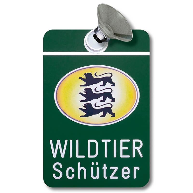 Autoschild Wildtierschützer Baden-Württemberg - KFZ-Zubehör