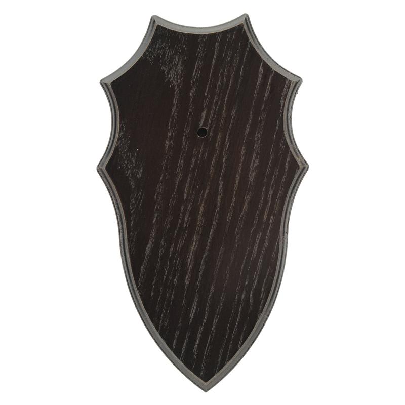 Trophäenschild Rehbock - Eiche dunkel (#6) - Blattjagd