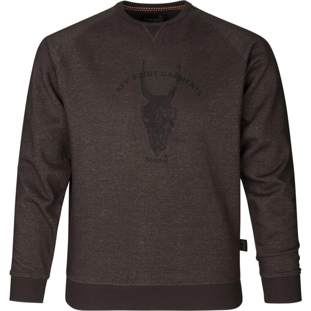 Seeland Sweatshirt Key-Point (After dark melange) - Jagdpullover