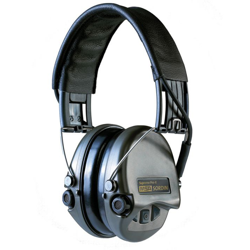 MSA Sordin Supreme Pro X Gehörschutz Leder - Schwarzwildjagd