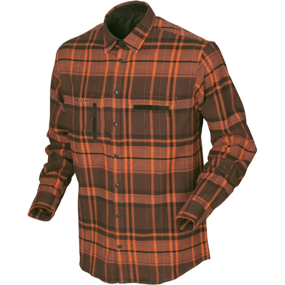 Härkila Eide Hemd (orange check) - Jagdhemden