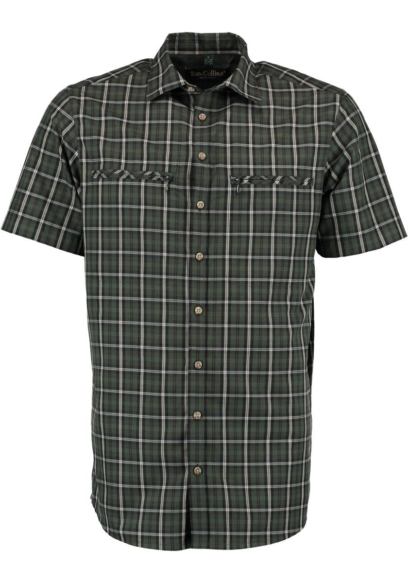 Tom Collins Kurzarm-Hemd Regular fit (Dunkelgrün) - Jagdhemden