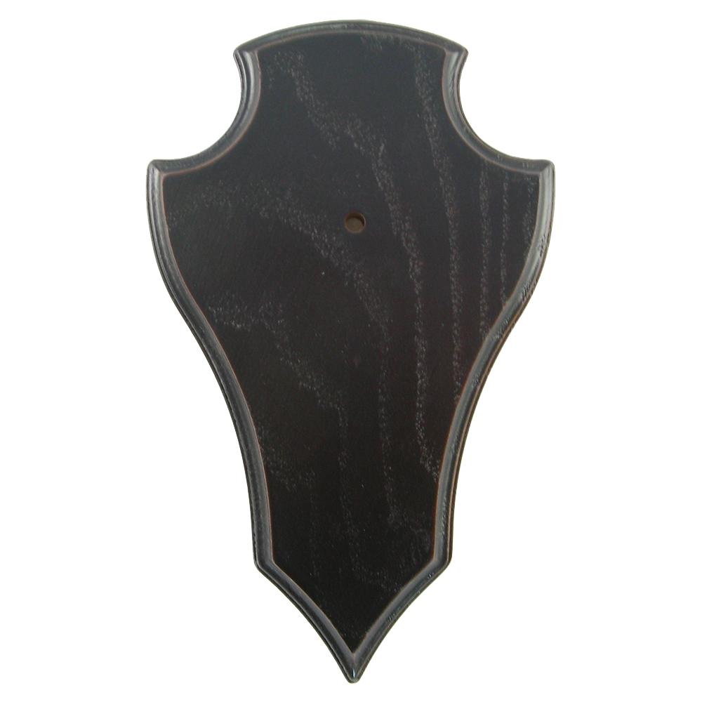 Gehörnbretter mit Kieferfach 5er-Pack (dunkel, spitz) - Trophäenberarbeitung