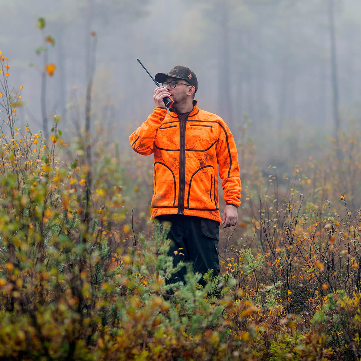 Pinewood Fleece-Wendejacke Red Deer