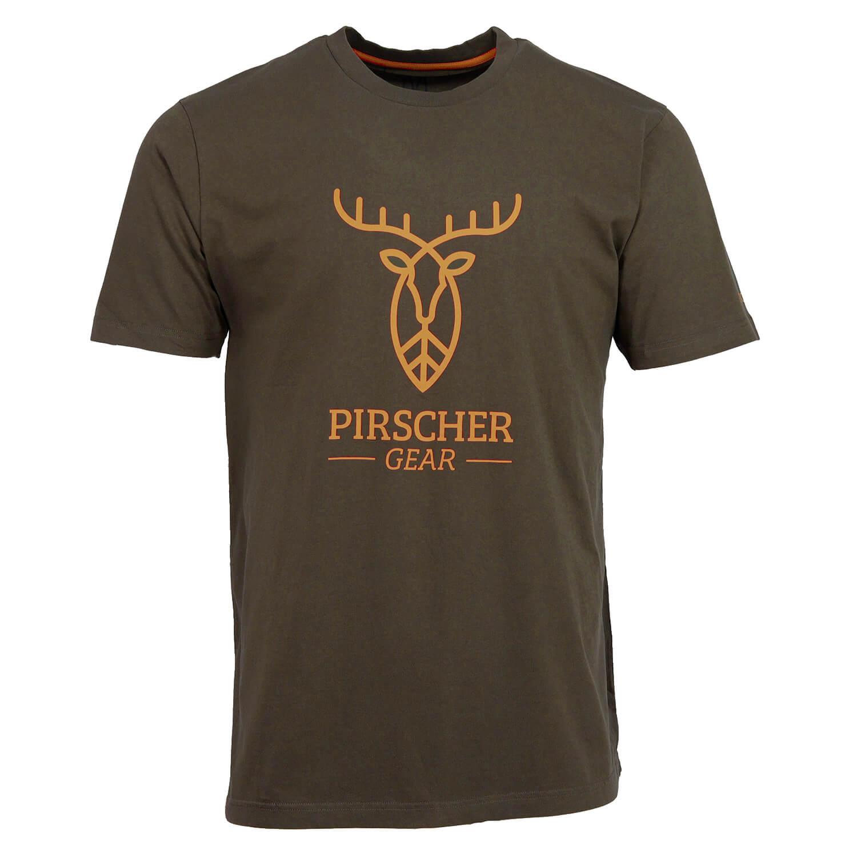 Pirscher Gear T-Shirt Full Logo (Braun) - Pirscher Gear
