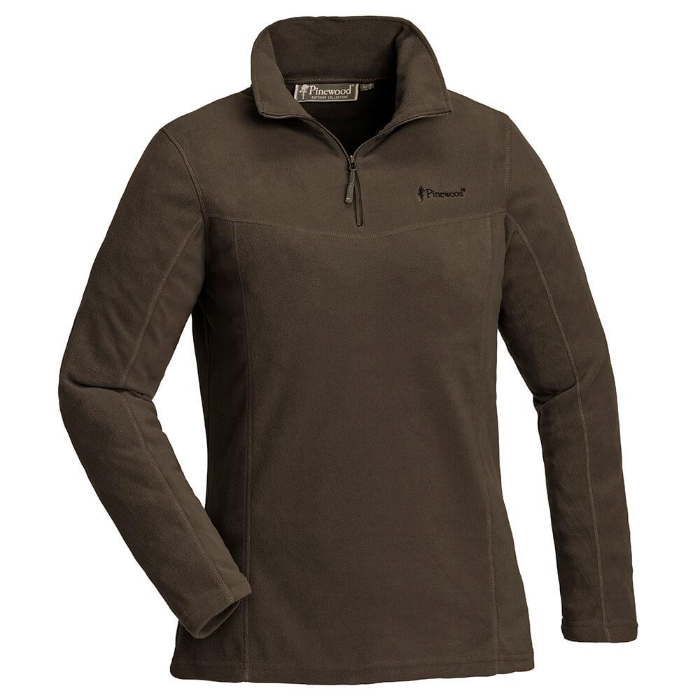 Pinewood Fleece Sweater Damen Tiveden (braun) - Blusen & Shirts