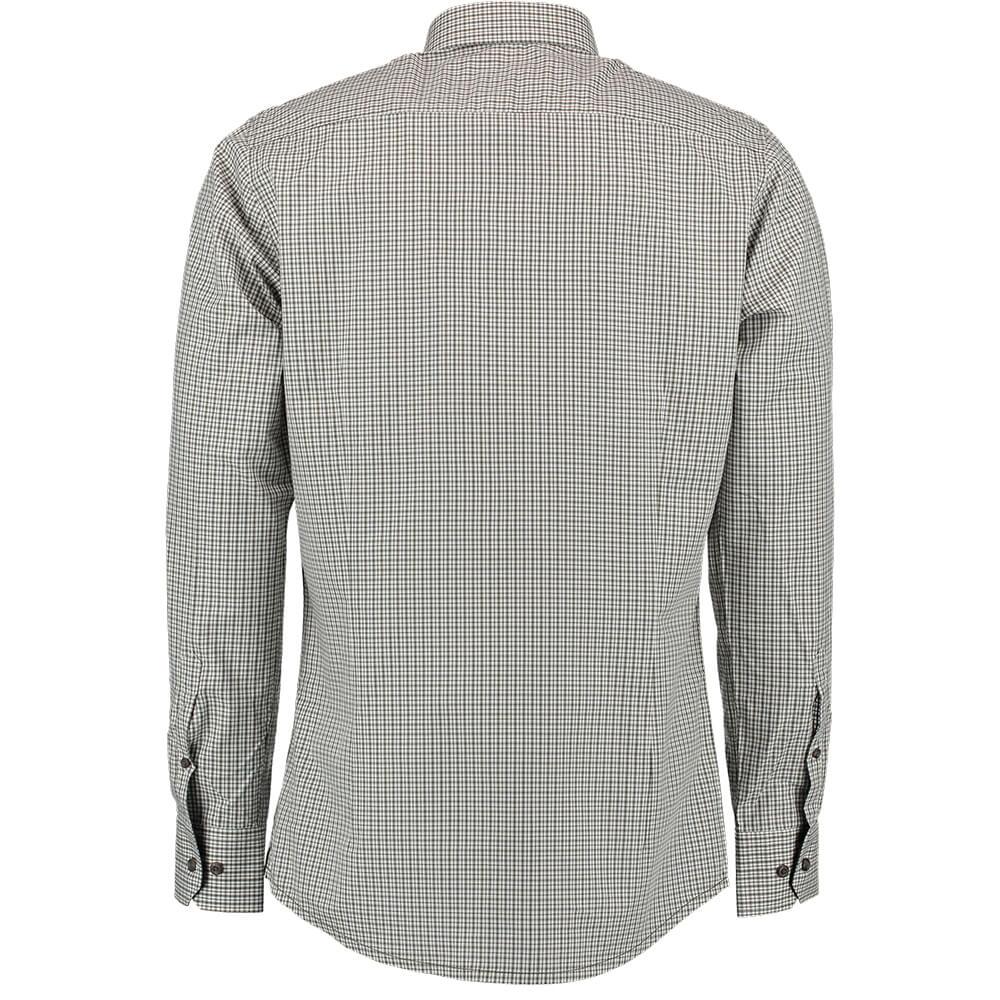 OS Trachten Hemd Slimfit (dunkelgrün)